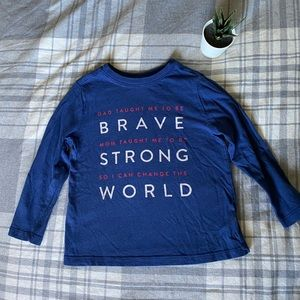 Old Navy Toddler Shirt Brave, Strong
